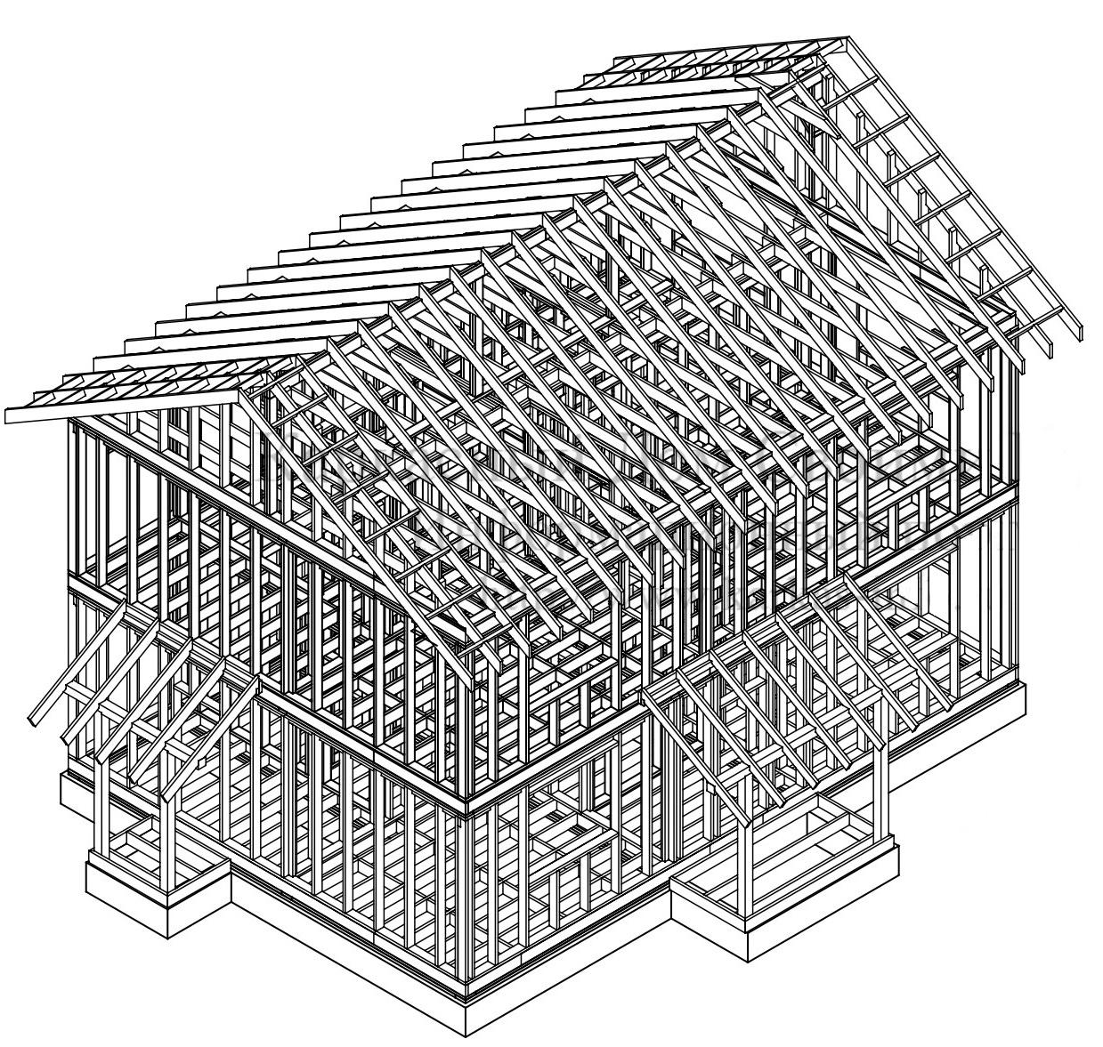 Индивидуальный каркасный дом