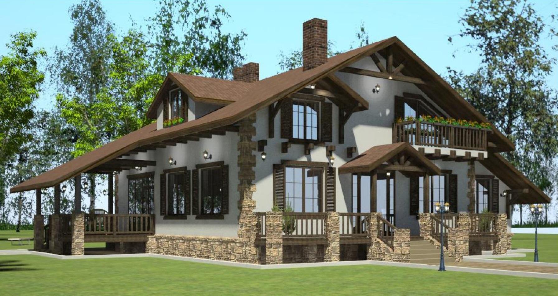 Индивидуальный жилой дом в стиле «Шале»
