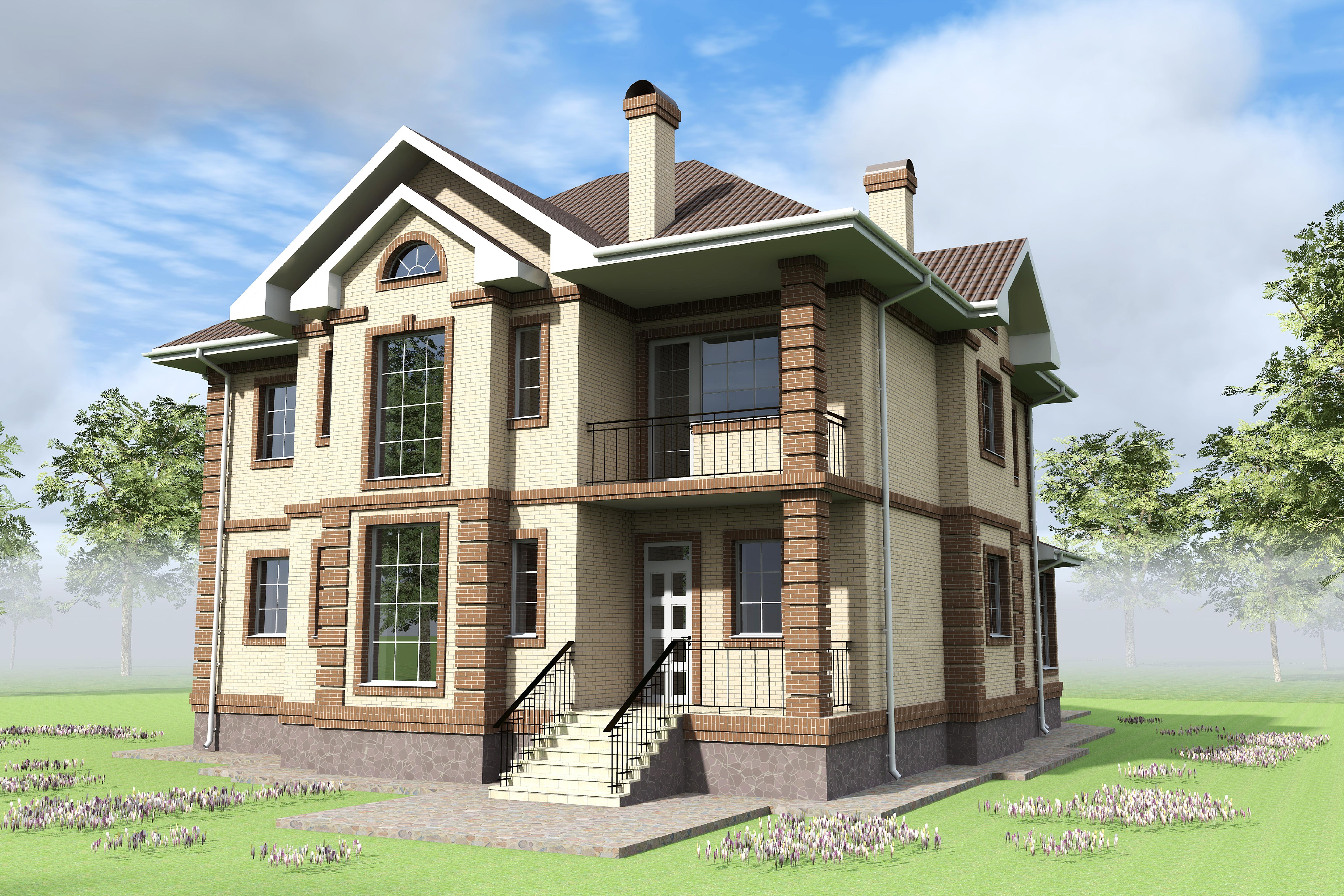 Индивидуальный двух этажный жилой дом